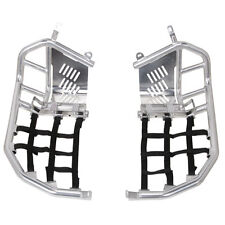 Tusk Foot Peg Nerf Bars / Heel Guards Silver / Blk Webbing - Z400  2003-2008