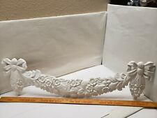 """WOOD PEDIMENT DOOR TRIM HAND CARVED ORNATE with FRUIT and FLOWERS 33 3/4"""""""