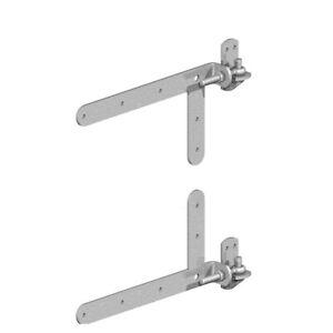 Gatemate Braced Adjustable Hook and Band Gate Hinges