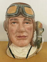 SMALL ROYAL DOULTON CHARACTER JUG THE AIRMAN D6870 *****EXCELLENT*****