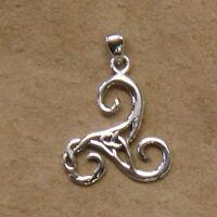 Keltische Triskele Anhänger Silber Gothic Schmuck - NEU
