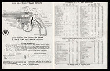 1951 IVER JOHNSON 7, 8, 9, Safety Automatic, DA Revolver Parts List 3pg AD