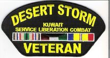 """MILITARY SERVICE PATCH  """" DESERT STORM """" COMBAT / RIBBONS"""