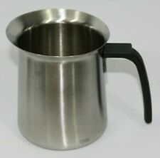 Stainless Steel Milk Coffee Frothing Pitcher Barista Cup 20 oz. Insulated Handle