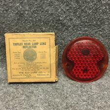 1932 Ford Cars K-D Triflex 261 Red Glass Tail Light Lamp Lens NOS 34712