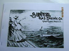 1900s Sintz Gas  Engine  Catalog 1 to 30hp and launches/boat pics