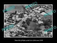 OLD LARGE HISTORIC PHOTO OF NITON ISLE OF WIGHT AERIAL VIEW OF THE TOWN c1930 2