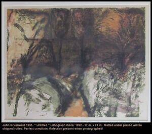 Fine Art Lithograph John Gruenwald Listed Milw. Wi San Francisco Wisconsin