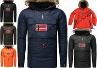 Geographical Norway Bronson Uomo Giubbotto Parka Giacca Veste Poncho