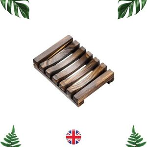 Soap Holder Dish Plate Rack Eco Natural Bamboo Wood Kitchen Shower Bathroom UK