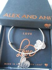 Alex and Ani LOVE IV Expandable Wire Bracelet Rafaelian Silver NWTBC