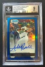 Addison Russell 2012 BGS 9 MINT Bowman Chrome Draft Blue Refractor Auto RC