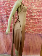 Michelle Mason One-Shoulder Pinkish asymmetric Dress under shorts Womens Sz P(s)