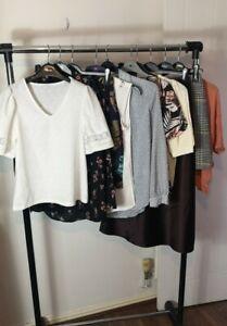 Womens Ladies Clothes Bundle Size 8 Midi Skirt Blouse Dress Shirt Top Tshirt H9
