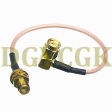 """Cable SMA male right agnle to female jack bulkhead RG316 RF pigtail 6"""" FPV"""