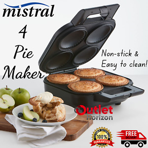 Mistral 4x Pie Maker Non Stick Deep Moulds Pastry Cupcake Muffin Pies Maker New