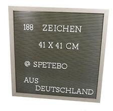 Buchstaben Tafel 41x41 cm weiß - 188 Teile - Memoboard Letterboard Stecktafel
