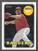 BARTOLO COLON 2018 Topps Heritage High Number SP ACTION Variation #606 RANGERS