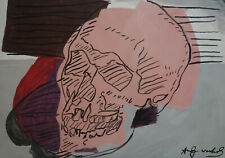 Fine unique Pop Art painting – skull, signed Andy Warhol w COA