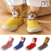 Warm Slippers Kids Crib Shoes Toddler Anti-slip Infant Baby Girl Boy Floor Socks