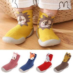 Warm Slippers Kids Crib Shoes Toddler Anti-slip Infant Baby Girl Boy Floor Socks