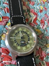 AIR BLUE PRAESTO PILOT WATCH PVD BLACK DIAL IN GREAT CONDITION