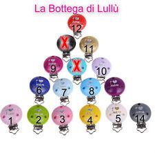 1 Pinza Clip I love mom per CATENELLA/CATENINA  portaciuccio FAI DA TE BAMBINO