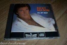 Ricky Nelson NM 1986 USA DADC CD All My Best A Tribute 17 Songs Silver Eagle Rec