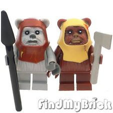 R7 Lego Star Wars 2x Ewok Minifigures Chief Chirpa & Paploo 10236 8038 NEW