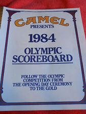 CAMEL PRESENTS 1984 OLYMPIC SCOREBOARD PROGRAM OF LOS ANGELES OLYMPICS