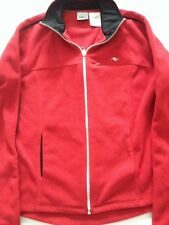 ATHLETIC WORKS RED ZIP FRONT FLEECE JACKET Coat Exercise Womens  Small 4/6