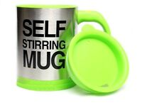 Green Self Stirring Hot Tea Coffee Soup Lazy Mug Cup Home Office Camping Drink