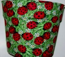 Lady Bugs Daisies Planters Flowerpot Gift Wrap Basket Supplies Container