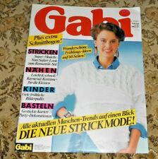 Gabi  von 2 / 1987 Strickmode Stricken Nähen Basteln Strickheft Handarbeitsheft