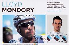 CYCLISME carte cycliste LLOYD MONDORY  équipe AG2R prévoyance 2011