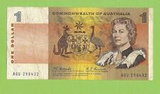 #D489.   1967 $1 PAPER COOMBS / RANDALL  BANKNOTE  #AGU 298432, CIRCULATED