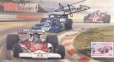1976 McLAREN-COSWORTH TYRRELL FERRARI USA F1 cover signed JODY SCHECKTER