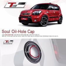 Genuine Tuon Chrome Flip Fuel Gas Cap Cover 1EA For Kia Soul 2010 2013