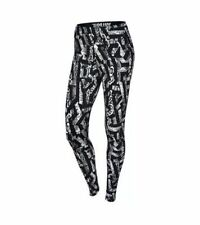 NEW NIKE Leg-A-See Printed Women's Leggings Black White Size SMALL 678836-100