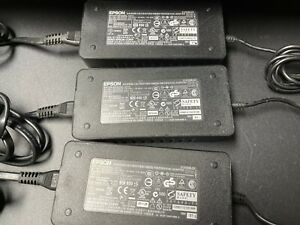 LOT of 3 Genuine EPSON Power Supply A421H 48W AC Adapter Scanner W/PS