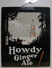 1920's Howdy Ginger Ale Cardboard Sign - St. Louis, MO