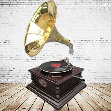 Gramophone Party Gag Square Mahogany Nostalgia Present in Vintage Decoration Neo