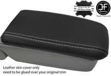 GREY STITCH REAL LEATHER ARMREST LID COVER FITS SUBARU FORESTER SG9 2006-2008