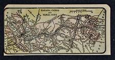 c 1910 Miniature Diary Map - Panama Canal Zone Cristobal Colon Balboa City