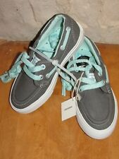 NWT TODDLER CONVERSE SEA STAR OX BOAT SHOES CHARCOAL GRAY/MINT TURQUOISE SIZE 11