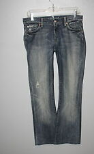 WOW~ 7 FOR ALL MANKIND sz 28 BOOTCUT DISTRESSED WOMENS JEANS