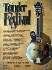 TONDER FESTIVAL - 2001 - Konzertplakat - Mary Black - Oysterband - Dänemark