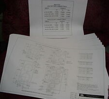 "JBL SPEAKER CABINET ENCLOSURE BLUEPRINTS 18 11"" x 17"" Pages"