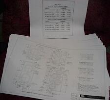 "JBL SPEAKER CABINET ENCLOSURE BLUEPRINTS 18 11"" x 17"" Pages"