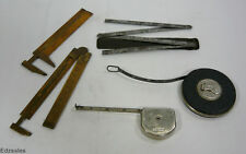 5 Measuring Tools - Stanley Lufkin Starret Rulers Tape Measurers